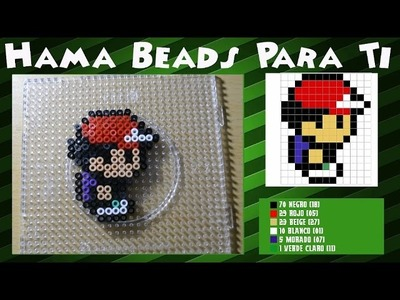 Ash Ketchum - Tutorial Hama Beads