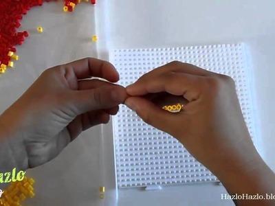 Bandera de España con hama beads.