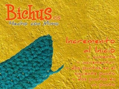 Bichus - Ganchillo Básico 10 : Aumentar puntos en crochet, al inicio