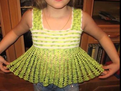 Blusas para niña tejidas a crochet