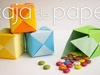 Caja de papel origami paso a paso tipo puzzle (FÁCIL)