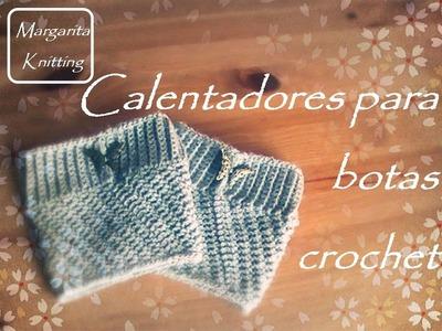 Calentadores para botas a crochet (diestro) - crochet boot cuff (English subtitles)