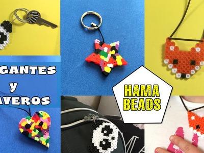 Colgantes y llaveros con hama beads