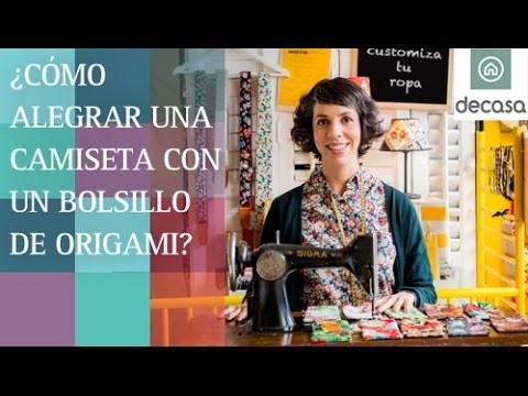 ¿Cómo alegrar una camiseta con un bolsillo de origami? (DIY)   Customiza tu ropa
