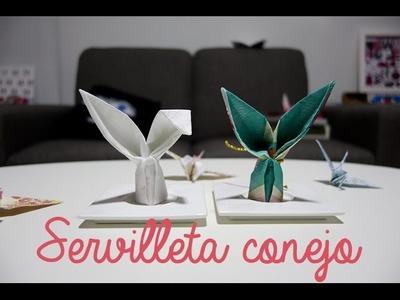 Cómo doblar servilletas en forma de conejo - origami