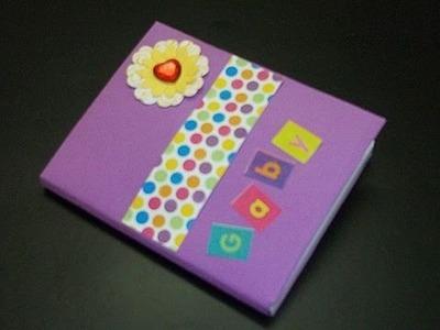Cómo forrar una mascota o cuaderno al estilo scrapbook