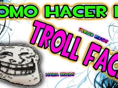 COMO HACER EL TROLLFACE  | Hama Beads Perler Beads Pixel Art