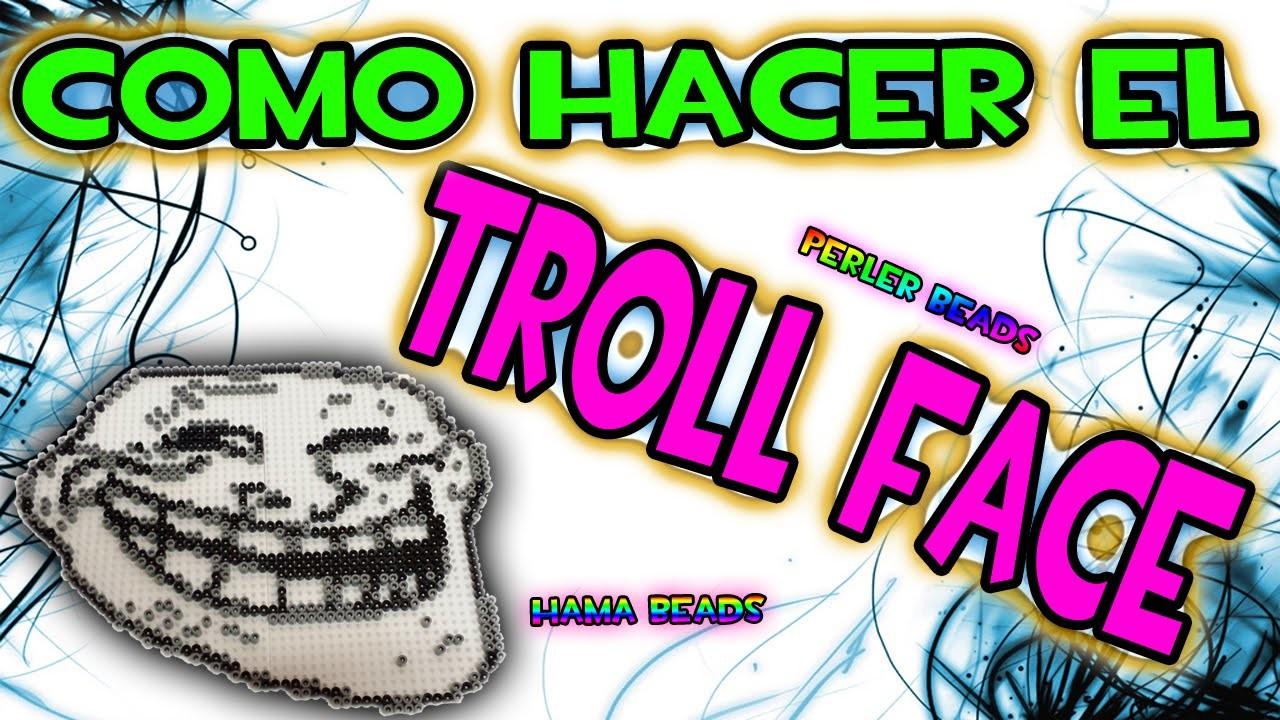 COMO HACER EL TROLLFACE    Hama Beads Perler Beads Pixel Art