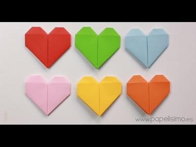 Cómo hacer un corazón de papel  (Tarjeta de San Valentín Origami)