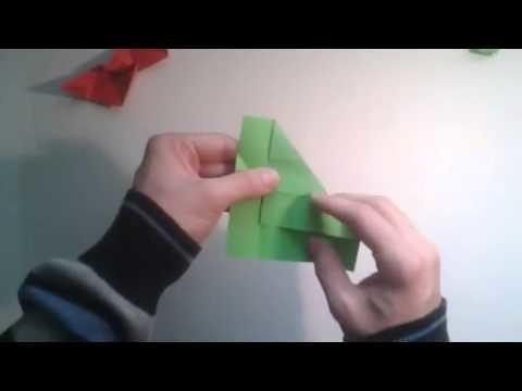 Como hacer un cubo de papel que se transforma en rosa   [Origami - Papiroflexia]
