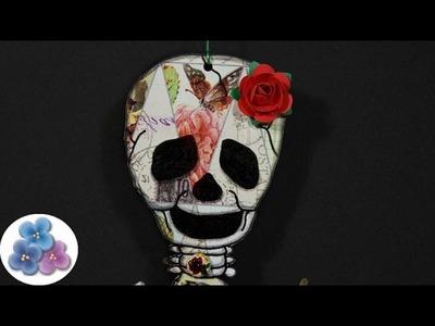 Como Hacer una Calavera Vintage para Halloween 2014 video Tutorial DIY español Pintura Facil