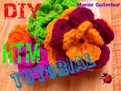 Como se hace una Flor : a Crochet  o Tejida con gancho!!