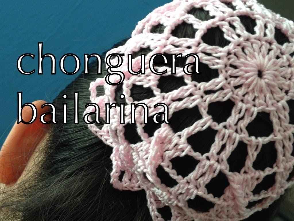 COMO TEJER #CHONGUERA #BAILARINA #MOÑITO #REDESILLA ganchillo crochet