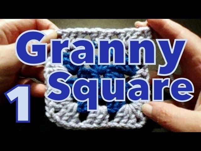 Cómo tejer cuadrado clásico (granny's square) reeditado -tejido para zurdos-