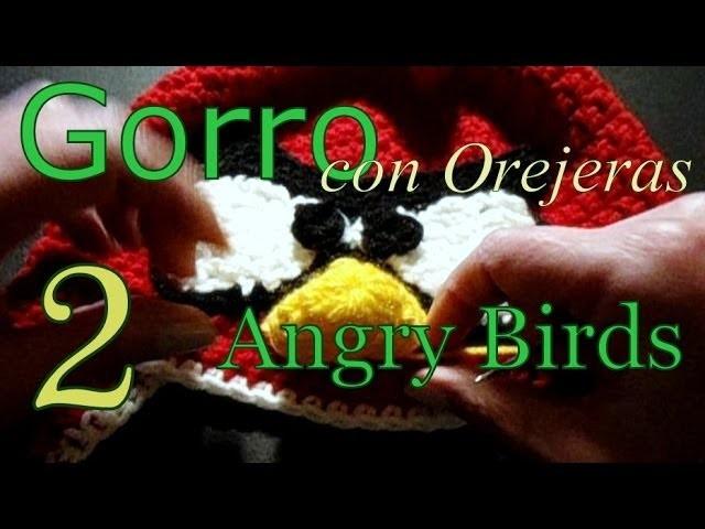 Cómo tejer gorro Angry Birds 2° parte (crochet earflap hat) -tejido para zurdos-