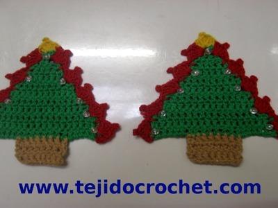 Como tejer un arbolito de navidad en tejido crochet tutorial paso a paso.