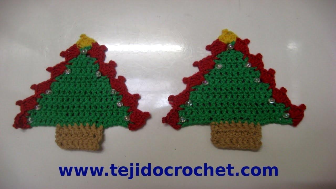 Como tejer un arbolito de navidad en tejido crochet - Tutorial arbol de navidad ...