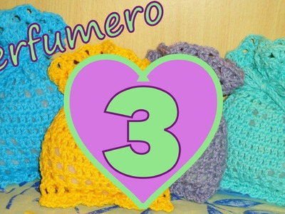 Cómo tejer un perfumero corazón 3° parte (filet crochet perfume heart) -tejido para zurdos-