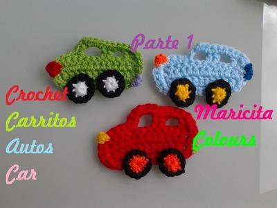 """Crochet Tutorial Carrito.Coche """"Toñito"""" (Parte 1) por Maricita Colours"""