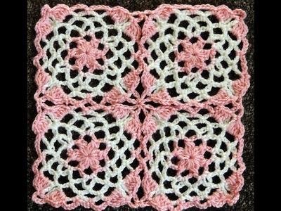 Crochet : Union Motivo Cuadrado número 2