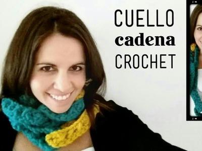 Cuello Bufanda tipo Cadena a Crochet - Paso a Paso
