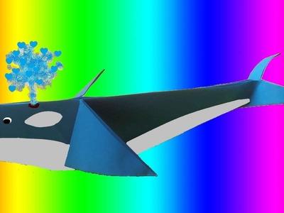 CURSO DE PAPIROFLEXIA gratis 9 Ballena de papel, Tutorial origami whale DIY