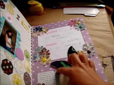 Diarios Scrapbook. Smash Book- pagina de Julio