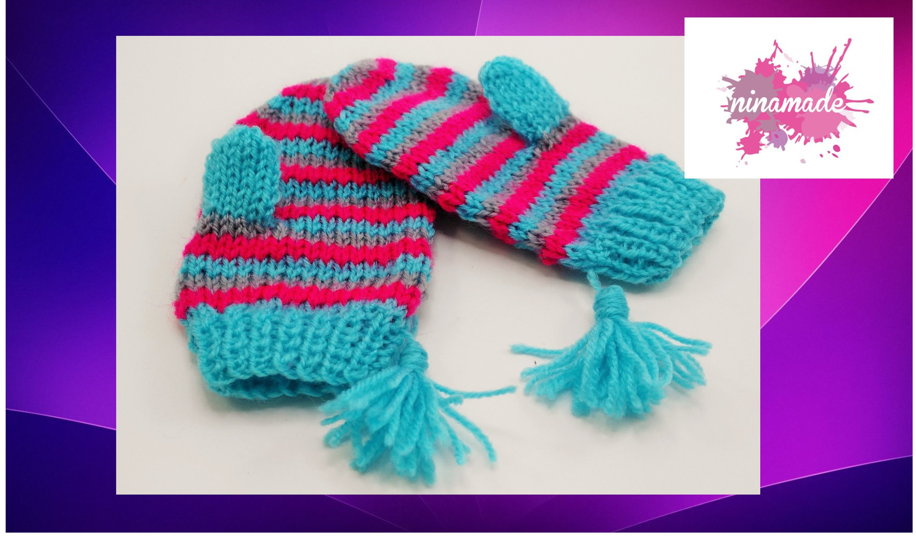 DIY. Como tejer manoplas.How to knit mittens.