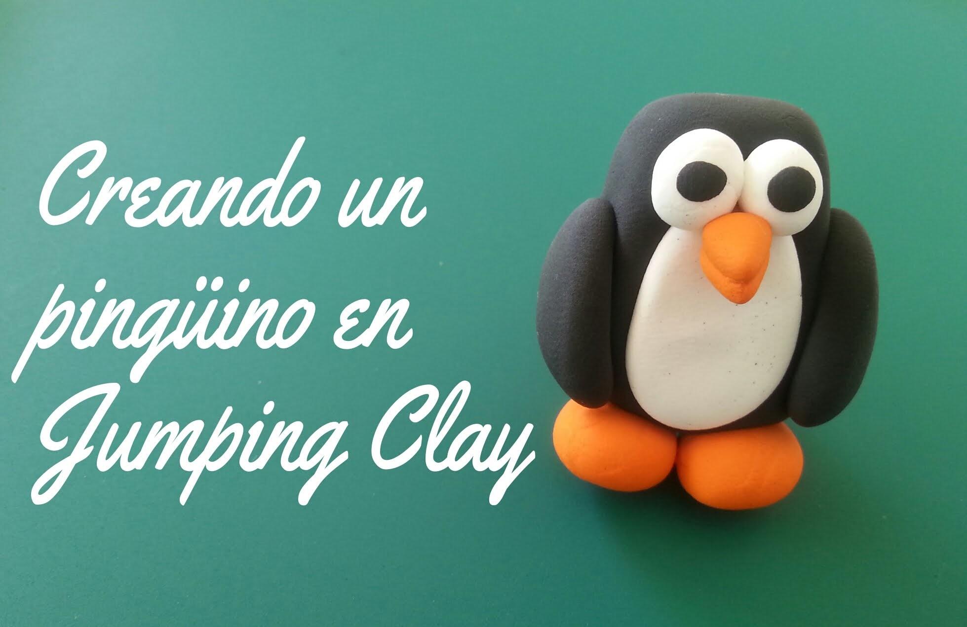 DIY Creando un pingüino en Jumping Clay - Polymer clay penguin (tutorial)