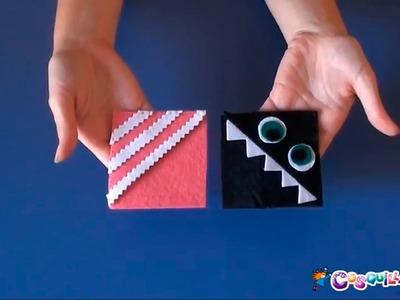 DIY Manualidades: Un marcapáginas monstruoso