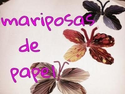 DIY Mariposas con papel reciclado. paper butterflies
