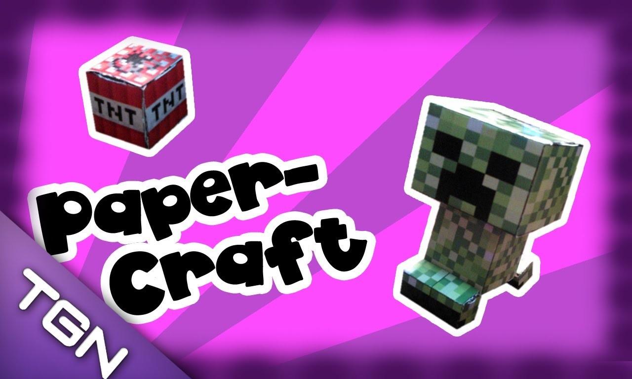 """Especial """"Paper-Craft"""" : Haciendo un Creeper de Papel"""