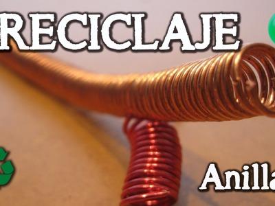 Espirales y anillas de  alambre | Reciclaje | Tutorial | DIY