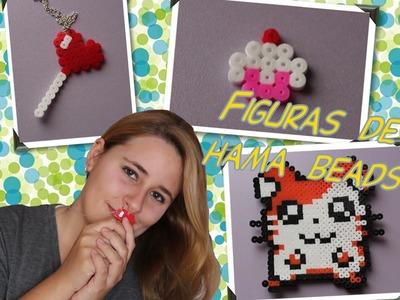 Figuras de hama beads: Hamtaro, Cupcake, Chupachus y nota músical
