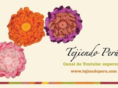 Flor de cadenetas tejida a crochet