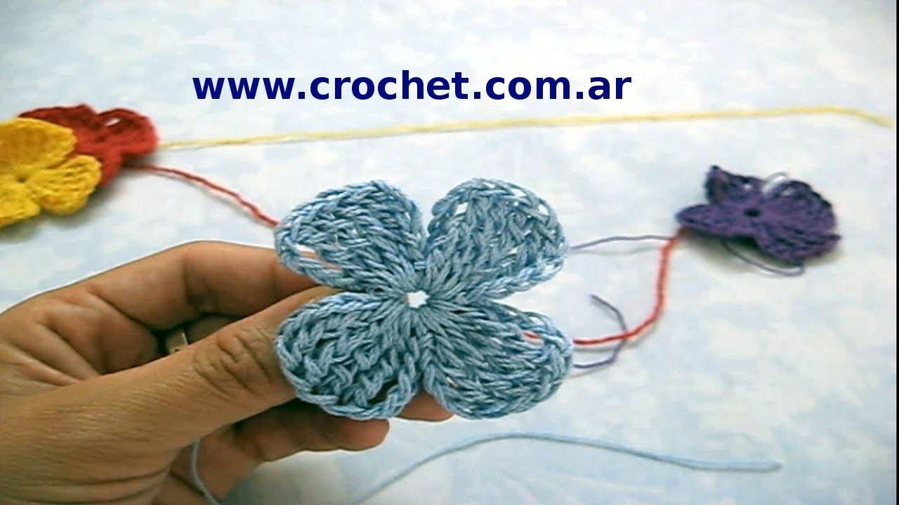 Flor Nº 21 en tejido crochet tutorial paso a paso.