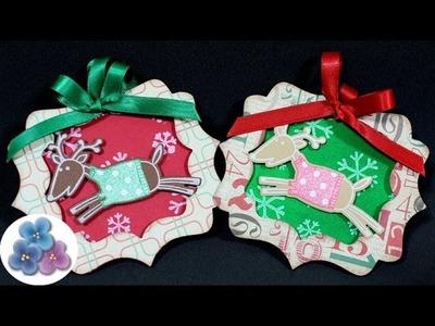 HTM Adornos Navideños Renos de Navidad *Christmas Decorations* Manualidades Papel Pintura Facil