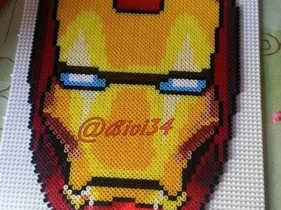 IRON MAN, máscara con hama beads