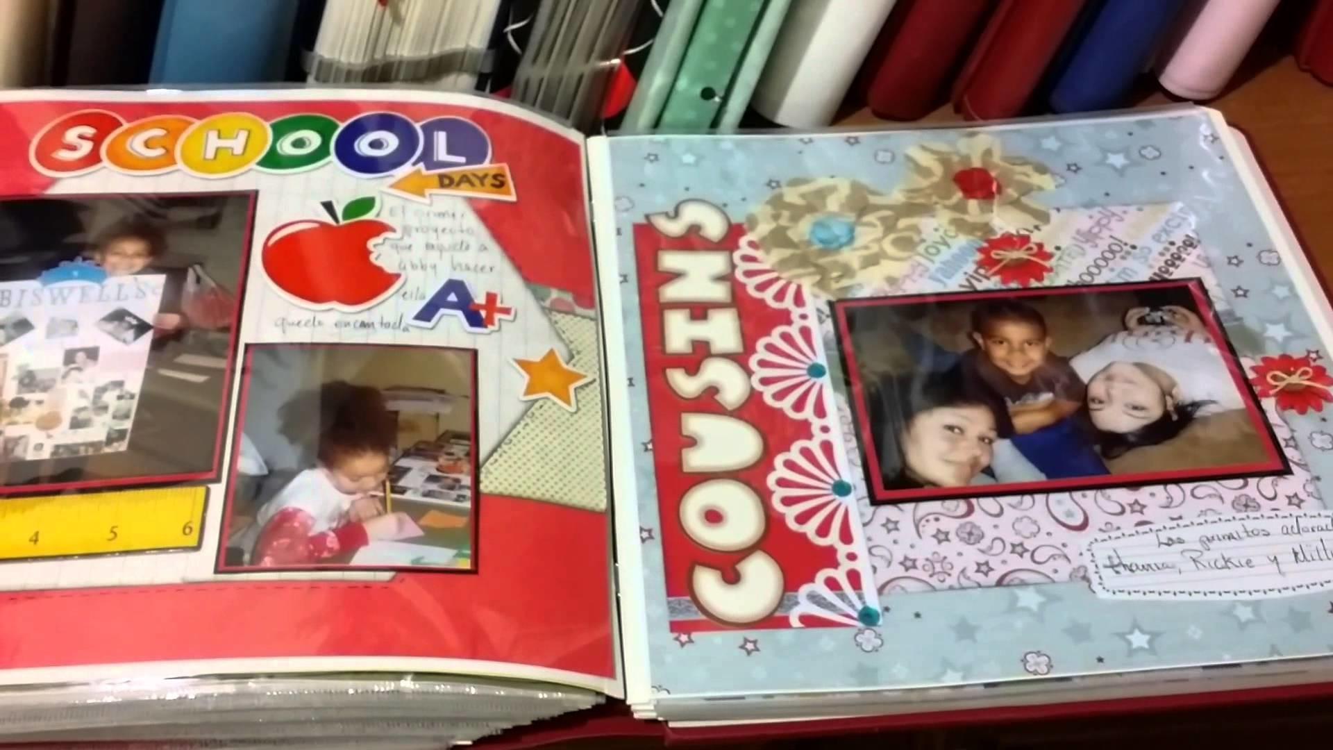 Mi pequeño rincón de mis scrapbook albums