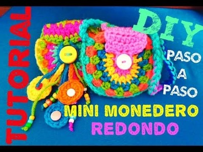 Mini Monedero REDONDO!!! DIY Crochet MUY FACIL!!!!