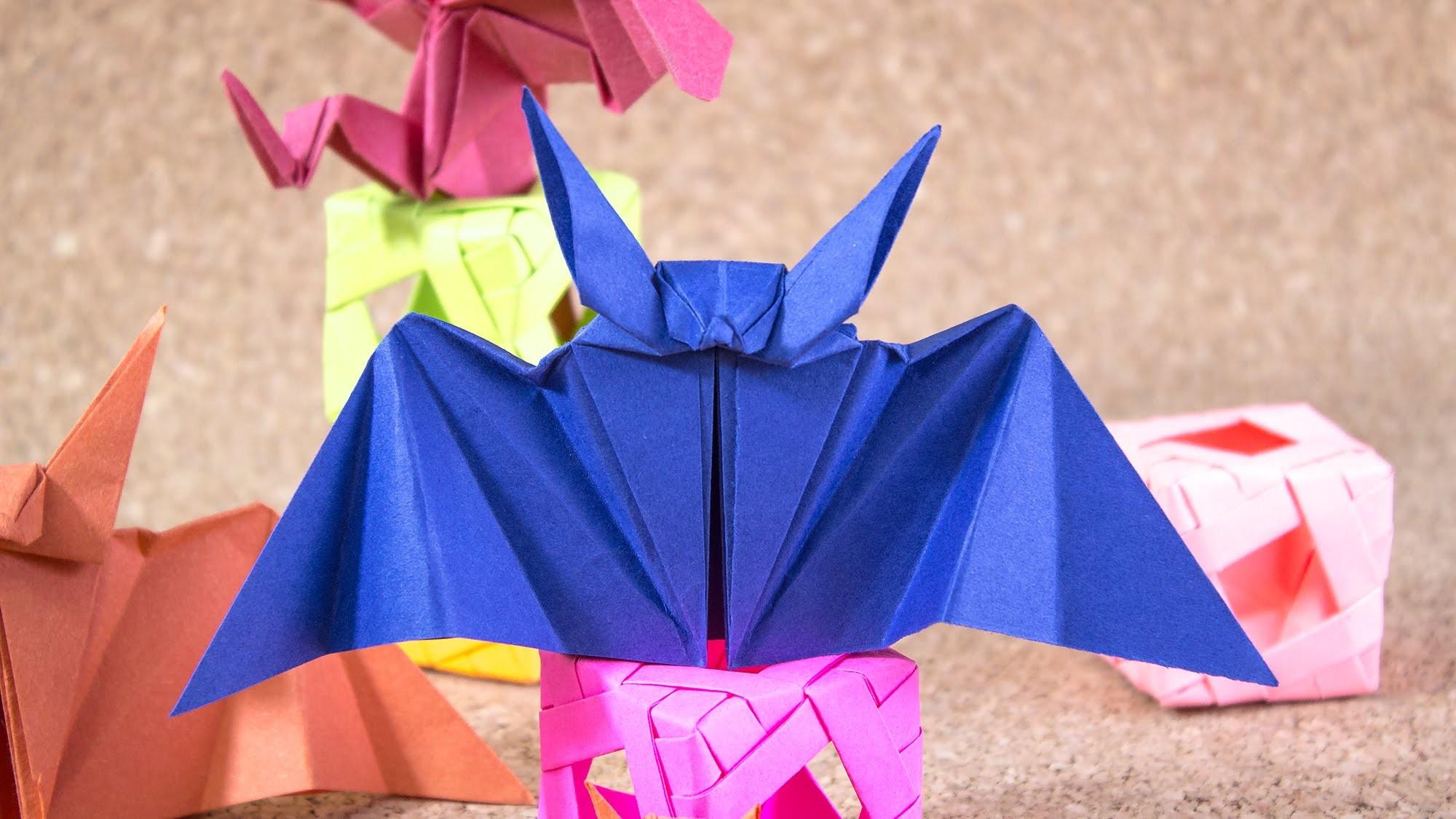 Murciélago de papel Origami. Jeguridos