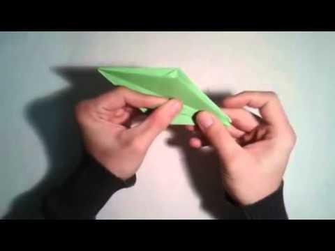 Origami   Como hacer una rana 3D    [Origami - Papiroflexia]
