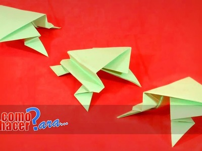 Origami: Cómo hacer una Rana de Papel Paso a Paso