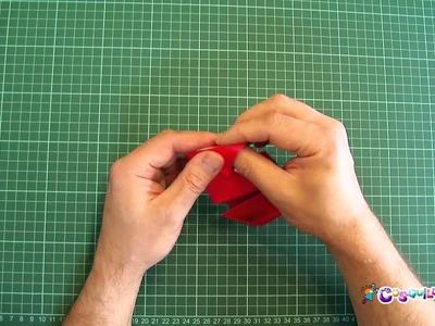 Origami. DIY: Cómo hacer un barco de dos chimeneas