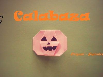 Origami - Papiroflexia. Calabaza para Halloween fácil