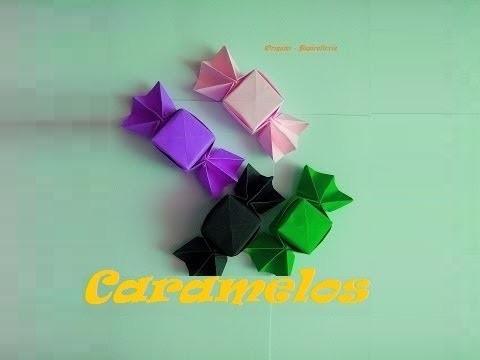 Origami - Papiroflexia. Caramelo de papel