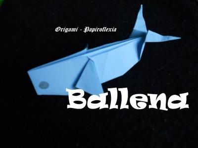 Origami - Papiroflexia. Tutorial: ballena,fácil y rápida