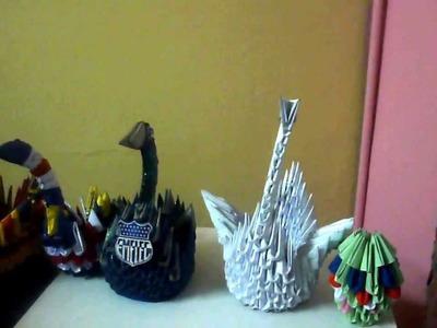 Patitos de origami, patos de papel