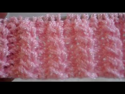 Puntada Fantasía Macizos Cruzados Crochet