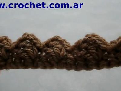 Puntilla Nº 2 en tejido crochet tutorial paso a paso.